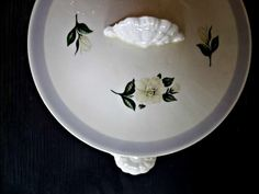 Homer Laughlin Footed Casserole. Oval Serving by 3vintagehearts