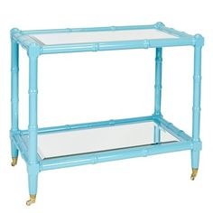 New to site! Worlds Away Palm Turquoise Bar Cart from @LaylaGrayce #laylagrayce #worldsaway #barcart