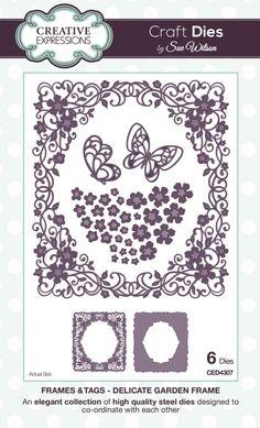 The Frames & Tags Collection - Delicate Garden Frame
