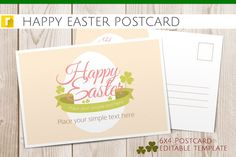 Happy Easter Postcard by revolumia on Creative Market