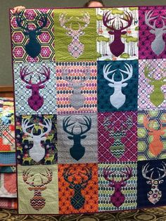 This is a killer quilt…. for a hunter, although I do like the colors – no camo here. is creative inspiration for us. Get more photo about diy home decor related with by looking at photos gallery at the bottom of this page. Quilting Projects, Craft Projects, Sewing Projects, Bambi, Hirsch Illustration, Sewing Crafts, Diy Crafts, Quilt Modernen, Reno