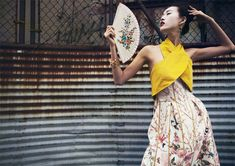 tian yi geisha4 Tian Yi is Geisha Glam for Elle Vietnams May 2013 Cover Shoot