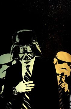 Star Wars art Darth Vader, Storm Troopers