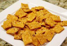 Sweet Potato Crackers (gluten free) #recipe #snack #healthy