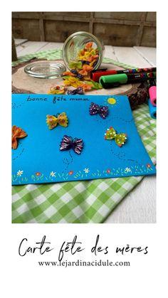 Collier de nouilles et carte pour la fête des mères - LE JARDIN ACIDULÉ