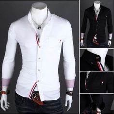 Men's Slim Luxury Stylish Casual #Shirts New Mens Shirts Casual Slim Fit Stylish Mens Dress #Shirts