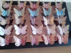 Glitterbugs 'take 2' - my second batch of butterfly fridge magnets made using recycled plastic