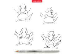 Dragões existem, sim, é só apontar o lápis, reservar uma folhinha sulfite e mãos à obra! #IdeiasFeitasAMao