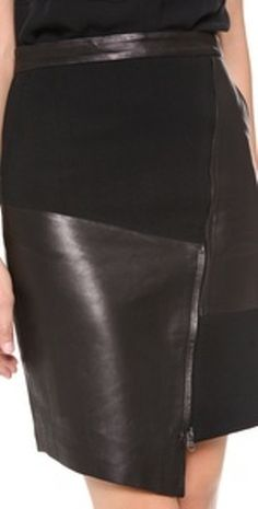 Tibi Patchwork Leather Skirt - - Tibi Patchwork Leather Skirt Leather Lingerie and other nice things Tibi Patchwork Leather Skirt Leder Outfits, Leather Lingerie, Skirt Pants, Petite Fashion, Mode Style, Fashion Outfits, Womens Fashion, Leather Fashion, Leather Skirt