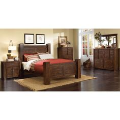 6piece queen bedroom set rc willey king size bedroom setsrustic