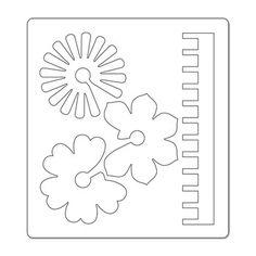 Fustella Bigz Fiori 3D Printable Stencil Patterns, Templates Printable Free, Leaf Template, Flower Template, Felt Patterns, Flower Patterns, Felt Flowers, Diy Flowers, Paper Art