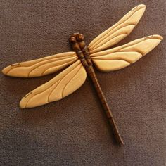 Dragonfly Intarsia by TheWarmHome on Etsy, $119.00 Dremel Wood Carving, Wood Carving Art, Bone Carving, Wood Art, Metal Art, Whittling Projects, Whittling Wood, Whittling Patterns, Wood Carving Designs