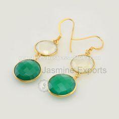 Beautiful Onyx Gold Plated Gemstone Earrings For Women In Wholesale   #18kgoldearrings #gemstoneearrings #onyxearrings #gemstonejewelry #handmadeearrings #wholesaleearrings #wholesalejewelry #jasmineexports