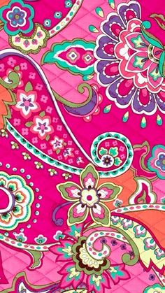 Pink Swirls Vera Bradley