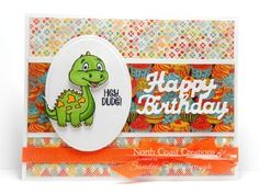 North Coast Creations Stamp Set: You are Dino-Mite, Our Daily Bread Designs Paper Collection: Birthday Bash, North Coast Creations Custom Dies: Dinosaurs, Happy Birthday, Our Daily Bread Designs Custom Dies: Ovals