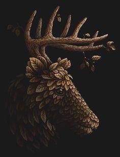 artist sergey kovalenko | Deciduous animals. + FREE wallpapers for iphone