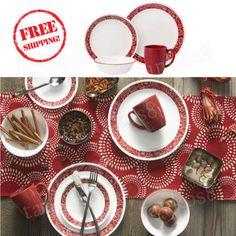 Service-for-4-Dinnerware-Set-16-Piece-Gift-Microwave-Kitchen-elebration-Party