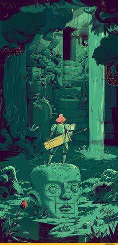 ArtStation,Adi Juhasz,Dungeon Guide,необычные места,красивые картинки