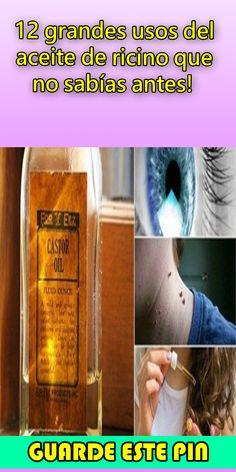 12 grandes usos del aceite de ricino que no sabías antes! #recino#aceite Medicine, Sweet Almond Oil, Natural Face Masks, Thick Skin, Dry Skin, Dry Cracked Heels, Longer Lashes