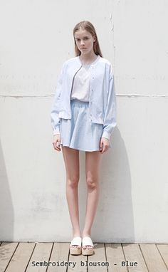 LOW CLASSIC (designer): cover up + white shirt + circle skirt + slippers : minimalist Look Fashion, Korean Fashion, Womens Fashion, Pastel Outfit, Skirt Outfits, Style Me, Casual Dresses, Ready To Wear, Dress Up