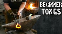 In this video, I show you a different way of forging beginner blacksmith tongs. In step by step tutorial fashion, I walk you through beginner tong making. Forging Tools, Forging Metal, Blacksmith Projects, Welding Projects, Making Tools, Knife Making, Blacksmith Tongs, Forge Burner, Metal Workshop