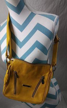 068ffd92265 Cristina in Pel Leather Crossbody Handbag Purse Bag Yellow Mustard Made in  Italy  CristinainPelle