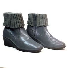 737ce51e3c3c Soft Style Hush Puppies Womens Size 7 M Gray Zip Up Ankle Winter Boots   HushPuppies