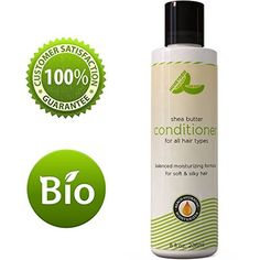 Natural Shea Butter Conditioner (Fragrance Free) with Pure African Shea Butter, Silk Peptide, and Pomegranate Blend - Repairs Broken, Dry and Thinning Hair - Contains No Silicones, Sulfates, or Harmful Chemicals - Made in USA By Honeydew Products