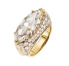 A Marquise-cut Diamond Ring, by Bulgari