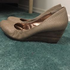 BCBG wedges Size 10 Wedges. Not too tall great for day time wear or work wear! BCBGeneration Shoes