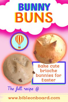 one of the blog's Easter activities, click for more stories and crafts! Baking Buns, Easter Activities, Bible Crafts, Bunny, Breakfast, Board, Desserts, Blog, Recipes