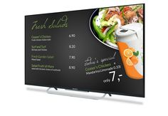 An example for digital signage in restaurants  #restauranttemplate