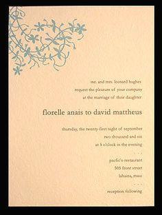 Wedding, Invitations, Blue