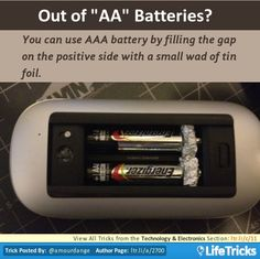 You can use AAA battery by filling the gap on the positive side with a small wad of tin foil.