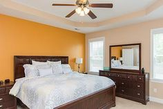 157 Hawks Point Road Jacksonville, NC 28540 by JG Homes, INC  | Bright and open master suite with trey ceilings, double vanity sinks, separate shower and soaking tub.