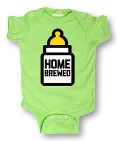 Key Lime 'Home Brewed' Bodysuit - Infant #zulily #zulilyfinds