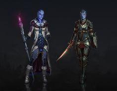 Dragon Effect: Liara and Samara by ~AndrewRyanArt on deviantART