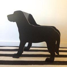 CHILD'S BLACK LAB DOG CHAIR