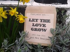 10 personalised Let the love grow wedding favour seed packet envelopes on Etsy, $8.19