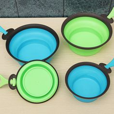 Pet Silica Gel Bowl Dog cat Collapsible Silicone Dow Bowl Candy Color Outdoor Travel Portable Puppy Food Container Feeder Dish at Banggood Puppy Food, Pet Travel, Pet Bowls, Food Containers, Candy Colors, Doge, Food Grade, Outdoor Travel, Safe Food