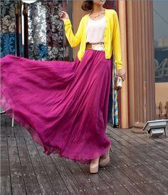 women's dress silk Chiffon 8 meters of skirt circumference long dress/skirt / maxi skirt /maxi dress/cotton skirt/Dress