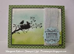 Fun Stampin' with Margaret!  World of Dreams, Choose Happiness.  CCMC352 Color Challenge:  Soft Sky, Wild Wasabi & Basic Gray