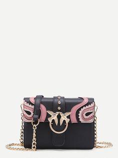 Bags by BORNTOWEAR. Double Bird Buckle Scalloped Detail Crossbody Bag a98d4b3fb4fda