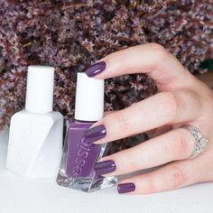 This gorgeous deep grape shade is @essie gel couture in Turn 'N' Pose. This color is perfect for Fall! #essielove