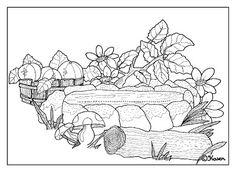 Karens Kravlenisser. Cut-outs and Colouring Pages. : Forest Postcards and Cut-outs to Print and Colour. Skov postkort og klippeark til at printe og farvelægge.
