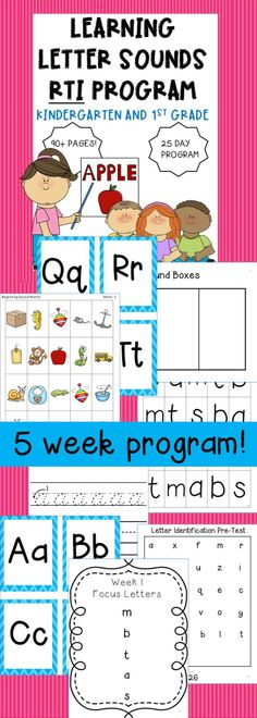 RTI Learning Letter Sounds Program!