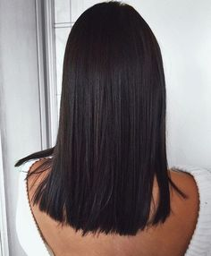 Mid length sleek lob  Hairstyle ideas