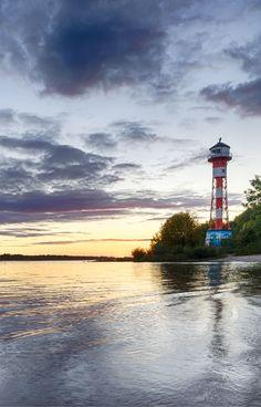Hamburg Bild Elbstrand Sonnenuntergang Leuchtturm Wittenbergen | Bildschönes Hamburg