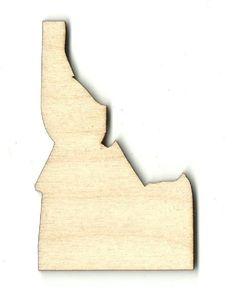 Idaho Unfinished Laser Cut Wood Shape