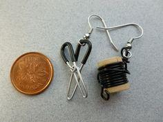 Wire Jewelry Earrings, Heavy Earrings, Beaded Jewelry, Jewelery, Diy Jewelry, Wire Ear Cuffs, Unusual Jewelry, Polymer Clay Jewelry, Leather Jewelry